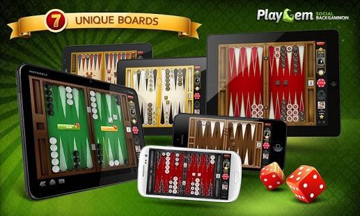 بازی اندروید تخته نرد آنلاین - Backgammon Playgem