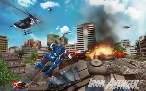 بازی اندروید آدم آهنی انتقام جو - Iron Avenger - No Limits