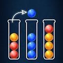 پازل مرتب کردن توپ رنگی - بازی مرتب سازی حباب دینو