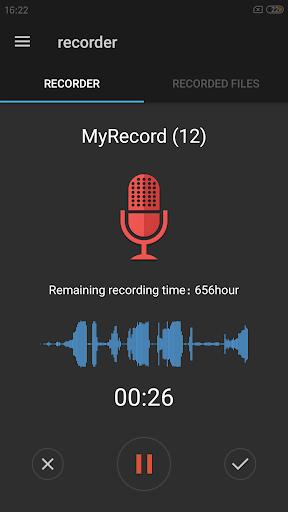 نرم افزار اندروید ضبط آسان صدا - Easy sound Recorder