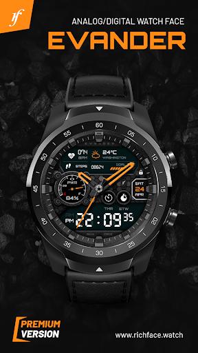 نرم افزار اندروید صفحه ساعت اوندر - Evander Watch Face
