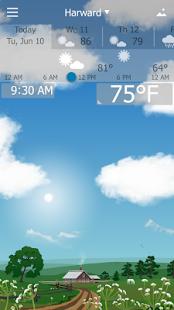نرم افزار اندروید یو ویندو - هواشناس دقیق - Precise Weather YoWindow